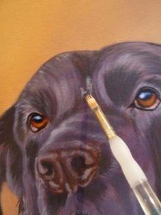 how to paint dog acrylics step 6 #DogArt