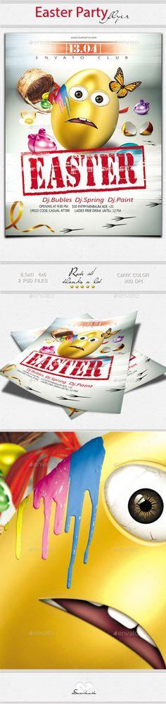 Easter Egg Hunt Flyer Template 2 Flyers Layout Pinterest Flyer