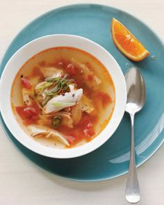 Spicy Indian Chicken Soup Recipe | Martha Stewart Living — Move over, chicken noodle!