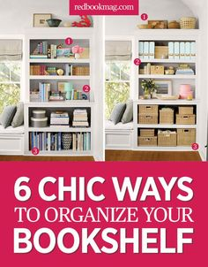 6 Organization Ideas For Your Bookshelf   Organize Your Home   Give Your  Office An Extra