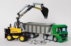 Mercedes and Volvo excavator   by Thomas Selander