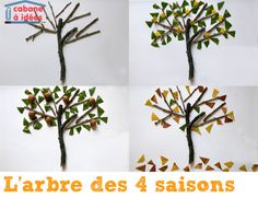 arbre-batons-4-saisons Arts And Crafts, Hair Accessories, Inspiration, Occasion, Centre, Collage, Craft Ideas, Blog, Seasons Of The Year