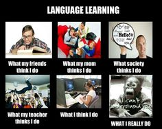 Language learning what other people think vs. What I really do funny
