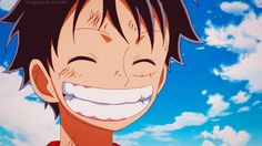 """Le sourire du ♔ Roi ♔ des Pirates ◐ """"en Couleurs"""" ◐ ~ Luffy Monkey D. ⭐ Capitaine Pirate ~ Navire : ⛵ Sunny Thousand ⛵ ~ ⚓_Øne_Piece_⚓ ~ [✨GiF✨]"""