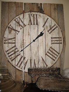 Up-cycle an old pallet into a wall clock.