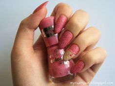 strawberry, sorbet, icecream, nails, nai polish, manicure, nail art