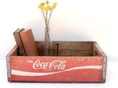 Vintage Wooden Coca Cola Crate -- Wooden Coke Crate