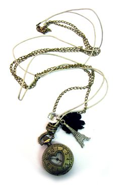 Steam Punk Tower Watch Necklace   Gothic Clothing   Emo clothing   Alternative clothing   Punk clothing - Chaotic Clothing