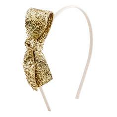 J. CREW Glitter Bow Headband, $15