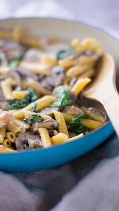 This one-pot chicken pasta meal is comforting, creamy and actually healthy!