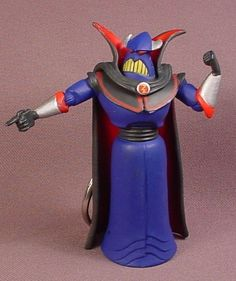 Disney Toy Story Evil Emperor Zurg, PVC Figure With Keychain, 3 1/4 Inches Tall, Pixar