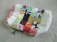 Patchwork knitting bag!