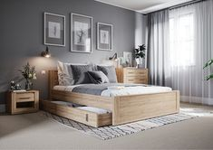 38 comfortable bedroom ideas with the latest 2020 fashion trend budget 7 Bedroom Bed Design, Gray Bedroom, Bedroom Sets, Home Decor Bedroom, Modern Bedroom, Bedroom Wall, Grey Bedroom Furniture, Bedroom Apartment, Bedroom Color Schemes