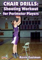 Chair Drills: Shooting Workout for Perimeter Players - Coach's Clipboard #Basketball DVD Store dynamic stretching basketball #basketballdrillsshooting #basketballworkouts
