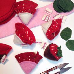 Sew embroider & stuff. Catnip strawberries are on todays 'to make' list. #catniptoy #misohandmade #etsyseller #strawberries #giftforkitty #misohandmadekitty