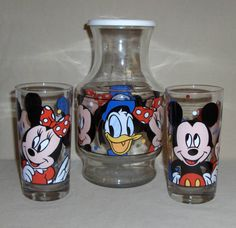 Mickey Mouse pitcher and glasses