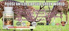 Pilose Antler Capsule,- Manfaat dan Harga Obat Pilose Antler Capsule Green World 100 % ASLI ORIGINAL. Dapatkan Sekarang Juga BARANG SAMPAI BARU BAYAR. http://jellygamatgoldgtradisional.com/pilose-antler-capsule/