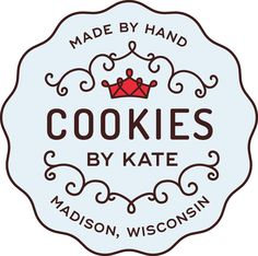 Cookies by Kate in Madison, WI. Beautifully decorated and always delicious sugar cookies! We make custom cookies to fit any event: birthdays, graduations, weddings, because it's a Tuesday... @cookiesbykatewi