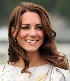 """LOOSE CURLS """"If you've got a client like Kate who is going to be photographed as much as she is, to have naturally beautiful hair is great,"""" says Ward."""