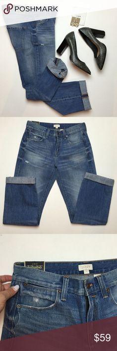 NWT J.Crew boyfriend jeans Jcrew new with tags boyfriend jeans inseam 30' distressed J. Crew Jeans Boyfriend
