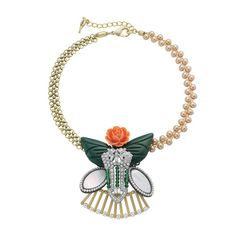 La Belle Rose Collage Necklace on sale for 75% off! One of a kind piece!  Look here for more!  https://www.chloeandisabel.com/shop/semi-annual-sale