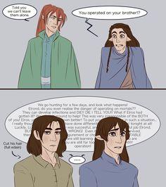 Elros and Elrond - new ears pt 2 by IDAHL.deviantart.com on @DeviantArt