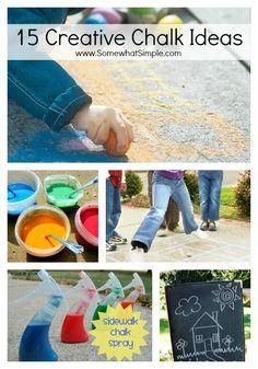 Chalk It Up! Creative Chalk Ideas