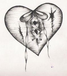 """Résultat de recherche d'images pour """"coeur brisé tattoo"""""""