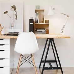 two seat workspace via coco lapine design simple diy home office desk with storage