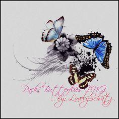 PNG's: Butterflies by lovelyschatz.deviantart.com