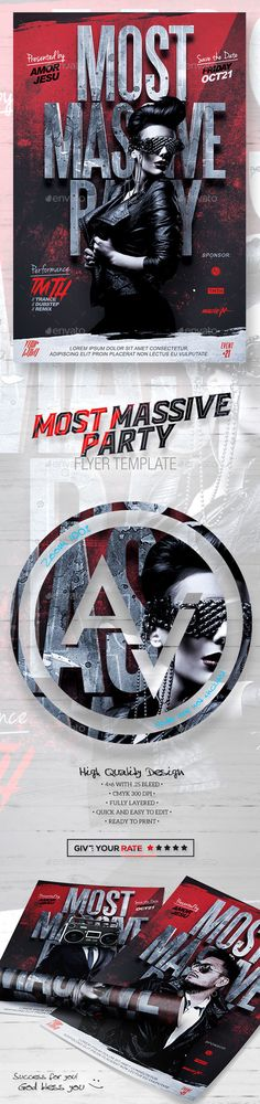 Most Massive Party Flyer Template PSD. Download here: https://graphicriver.net/item/most-massive-party-flyer-template/17164529?ref=ksioks