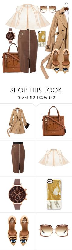 """Untitled #849"" by pesanjsp ❤ liked on Polyvore featuring Salvatore Ferragamo, Amanda Wakeley, Alex Perry, Olivia Burton, Casetify, Jeffrey Campbell and Dita"