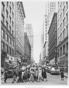 Petticoat Lane, Kansas City, Missouri, 1950. Kansas City Downtown, Kansas City Missouri, Great Places, Places To See, Top 10 Destinations, City Sky, Central Business District, Historical Pictures, Great Pictures