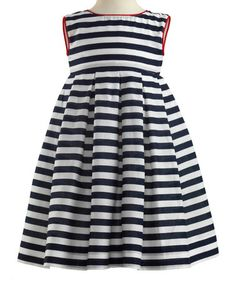 Look what I found on #zulily! Navy Nautical Stripe Dress & Bloomers - Infant & Toddler #zulilyfinds