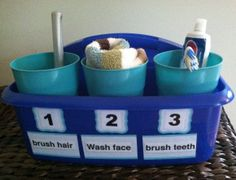 The Bathroom Caddy with Visual Structure and Sequencing