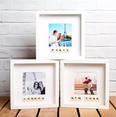 Scrabble photo frame personalised with your travel