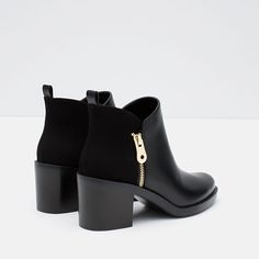 ZARA - WOMAN - COMBINED ANKLE BOOTS