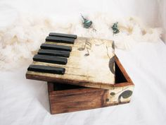 Rustic Home Decor Jewelry Storage And Organization Gift For Her Romantic Piano…