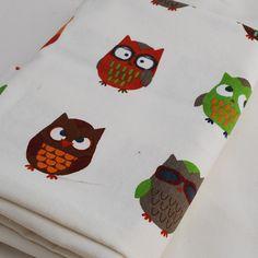 OrientalDirect.co.uk - Printed Cotton Craft Fabric - Funky Owl Birds - 70cm x 50cm, £5.99 (http://www.orientaldirect.co.uk/printed-cotton-craft-fabric-funky-owl-birds-70cm-x-50cm/)
