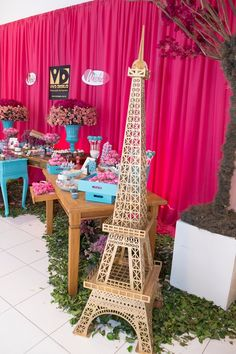decoracao-mesa-meninas-festa-infantil-torre-eiffel-paris