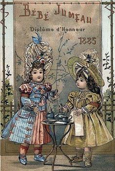 Advertising card from Maison Jumeau.
