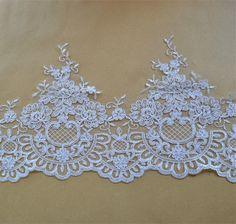 9 x 9 cm Large White Flower Guipure Lace,Applique,Trimmings,White Bells Motif