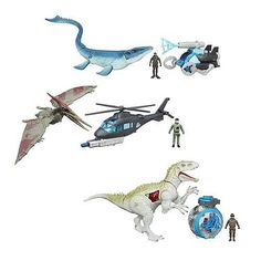 Jurassic World Capture Vehicles Set Of 3 Indominus Pteranodon And Mosasaurus Vs Sets