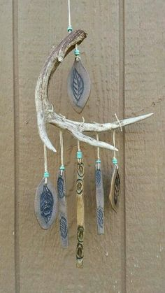 Terrific Absolutely Free Ceramics art projects Ideas Garden Windchime, Deer Antler Windchime, Garden Art, Ceramic Windchime by deena – – Carillons Diy, Diy And Crafts, Arts And Crafts, Key Crafts, Room Crafts, Antler Art, Deer Antler Crafts, Diy Wind Chimes, Glass Wind Chimes