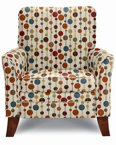 Riley High Leg Recliner by La-Z-Boy. ohhh, now this is cute too, though the fabric would grow old fast. Nice lines.