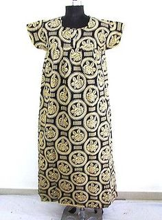 Indian HandBlock Print Kaftan Plus Size Long Summer Dress Throw Maxi Dress Beach