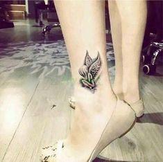 Waterproof Temporary Tattoo Sticker on foot ankle wrist angel genius tatto stickers flash tatoo fake tattoos for girl women 4 – Linh's Corner Foot Tattoos Girls, Foot Tattoos For Women, Back Tattoo Women, Small Wrist Tattoos, Fake Tattoos, Girl Tattoos, Tattoos For Guys, Bow Tattoos, Tattoo Girls