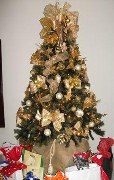 Árvore Gold (ouro e pérola)-2