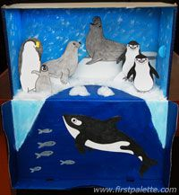 More Ideas for a Polar Diorama. As an adult with grown-up kids ....... I miss dioramas. : (