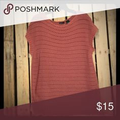 Pink Sweater Nude pink sweater. Looks great with a denim button up underneath. Moda International Sweaters
